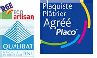 Certifications SARL LAPOUS : Qualibat RGE - Agréé Placo